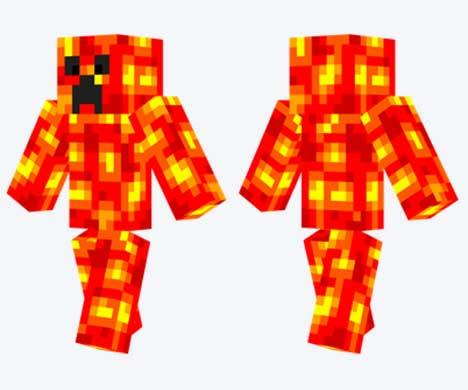Skin de Creeper de lava