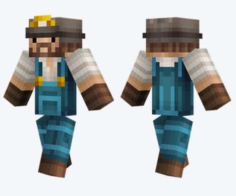 Skin de minero realista